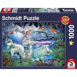 Puzzle 1000 pièces - Loup...