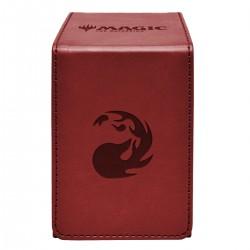 Deck box en cuir - Rouge